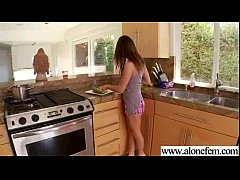 Alone Girl Start Play With Crazy Stuff As Sex Toys mov-19