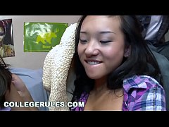 COLLEGERULES - Horny Teen University Students Get Naked And Fuck During A Party