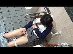 Pretty asian teen rubs