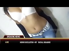 Hot desi news reader giving nude updates full video at pornland.in