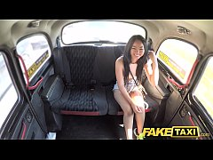 Fake Taxi Sexy Thai lady with pierced pussy lip...