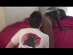 Barely Legal Ebony Teen Gets Creampie