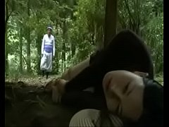 Clip sex Japanese Love Story ||School Girl is seduced in public toilet and fucked outside