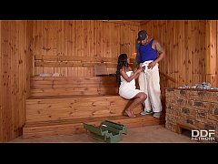 Sauna guest Jasmine Webb opts for fucking a Big Black Cock