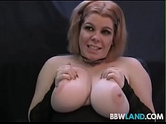 Busty Amateur Stripper Plays W Dildo in First S...