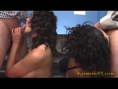 Twin Sisters & Naughty Secretary Kit and Kat Lee in Threesome