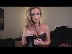 Angela Sommers strip and jerk off instructions