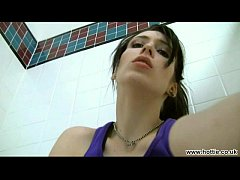 Kelly fingering herself in public gym shower