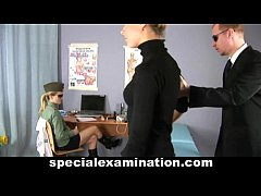 Sweet teen blonde babe gets medical check