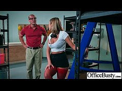 Round Big Tits Girl (August Ames) Get Banged In Office clip-11