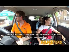 Fake Driving School Sexy horny learners secretly fuck in instructors car