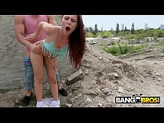 BANGBROS - Brunette Pornstar Aidra Fox Gets Plowed Outdoors