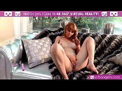 VRBangers.com SEXY READHED Marie McCray puts VIBRATOR on her wet PUSSY