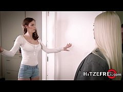 HITZEFREI Sex android has her first lesbian exp...