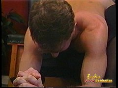 Kinky dude receives some hardcore spanking from...