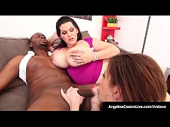 Lucky Black Dude Gets BJ From BBW Angelina Cast...