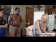Nadia White Interracial Threesome...