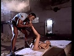 Blonde lady wildly fucked by a black in an abandoned house