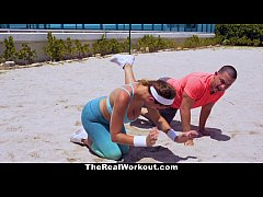 TheRealWorkout - Big Titty Babe Gets Fucked By The trainer