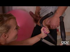 Hardcore double penetration at the gym makes Victoria Pure orgasm hard