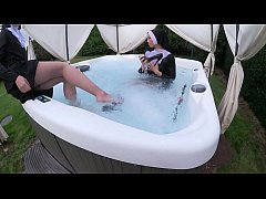 thumb two naughty  nuns get wet in the hot tub