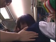 japanese lesbian schoolgirls groping on bus