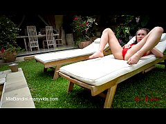 thumb fit teen pas sionate fucked and facialized near the outdoor pool  mia bandini