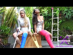 Fetish-Concept.com - 2 Girls with Long Cast Leg visit a flower store Part 2 (LCL)