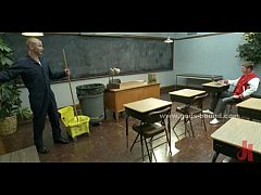 Janitor punishes student who...