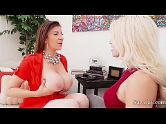Hot Milf Sara Jay Helps Teen Cristi Ann Orgasm ...