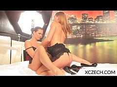Czech teen lesbian licking togather in the bed