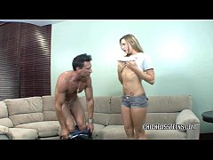 Cute coed Bailey Blue gets her tight teen twat ...