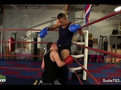 Gay boxing guys having...