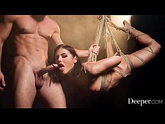 Deeper. Adriana Chechik gets tied, suspended an...