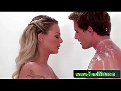 Tyler Nixon & Isabelle Deltore getting a sensual shower
