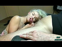 Pretty Petite Blonde Rough FaceFuck & Cumshot