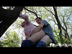 Shagging a horny MILF in the woods
