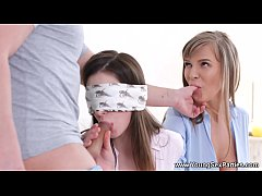 Clip sex Young Sex Parties - Threeway and blindfold prelude Eva, Busty Clary