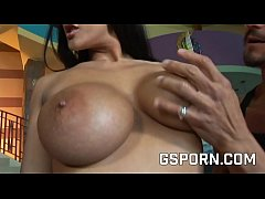 Hot threesome sex to fuck a big boobs brunette ...