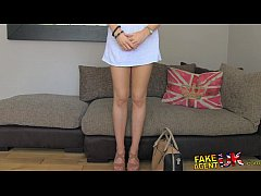 FakeAgentUK Hot blonde young amateur tricked in casting interview