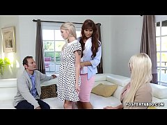 Clip sex New foster parents Syren De Mer and Calvin Hardy surprised their new teen dauther Megan Holly with a 3some session.