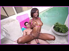 Clip sex BANGBROS - Amy Shorts Is A Skinny Black Girl With A Big Butt