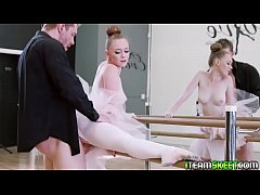 Horny ballerina gets the dick inside her rammin...