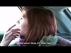 Bitch STOP - Red haired teen hitchhiker Monca fucked