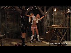 Slaves Homecoming: Maid Whips Her Tied Up Body