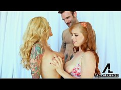 Hottest Threesome! Busty Hot MILF Sarah Jessie Fucks Her BF With Penny Pax!!