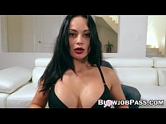 Amazing MILF Crystal Rush throated and facialized