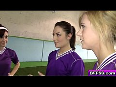 Naughty volleyball babes gets wild in a lesbian...
