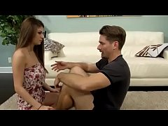 Dillion Carter in Step Dad teaches me how to wr...