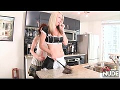 ElliNude and KyliedeVille in...